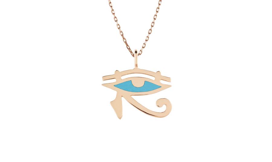 Eye of horus pendant maya blue art youth society eye of horus pendant mozeypictures Image collections